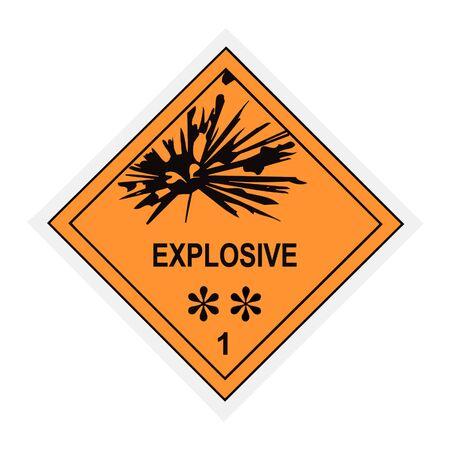 United States Department of Transportation explosive warning label islolated on white Stock Photo - 4656673