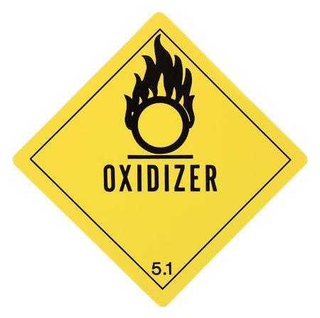 United States Department of Transportation oxidizer warning label isolated on white Stock Photo - 4656700