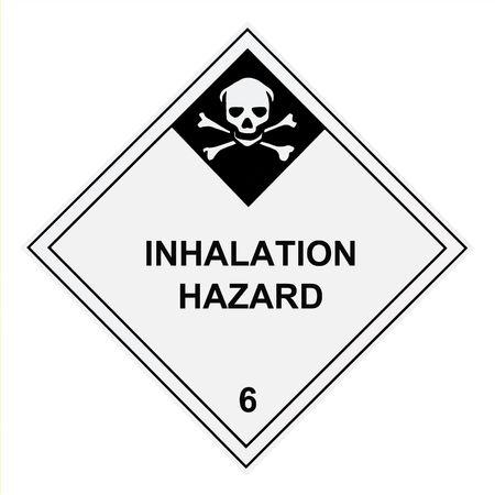 United States Department of Transportation inhalation hazard warning lable isolated on white Stock Photo - 4656687
