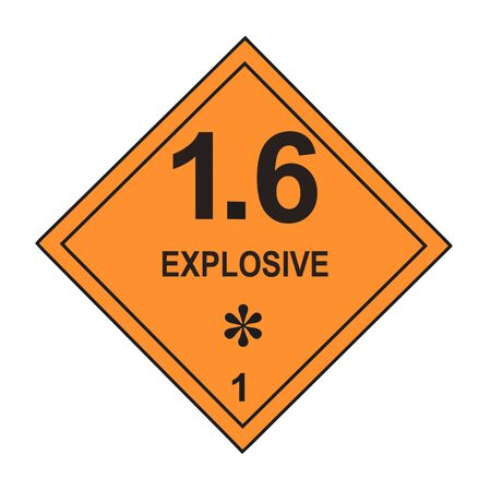United States Department of Transportation explosive warning label isolated on white Stock Photo - 4692152