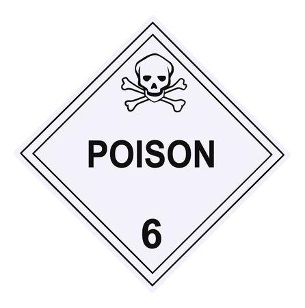United States Department of Transportation poison warning placard isolated on white Stock Photo - 4692151