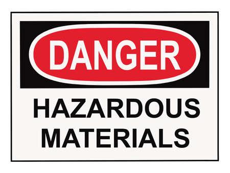 danger hazardous materials warning sign isolated on white Stock Photo - 4868068
