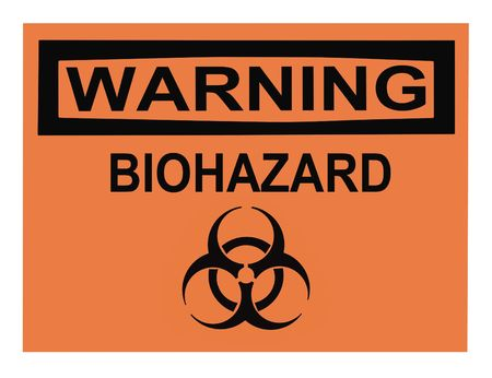 OSHA biohazard warning sign isolated on white photo