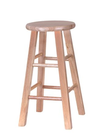 stool: Wood stool isolated on a white background