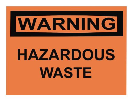 OSHA hazardous waste warning sign isolated on white