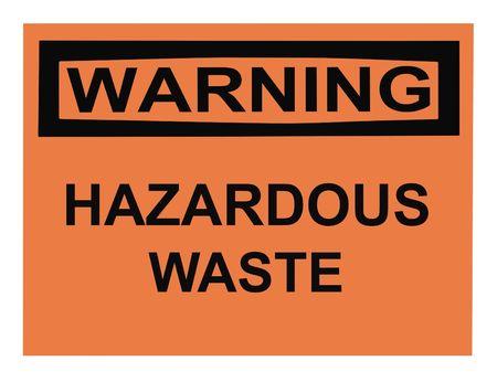 OSHA hazardous waste warning sign isolated on white photo