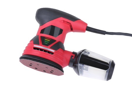 sander: Electric power sander isolated on a white background Stock Photo