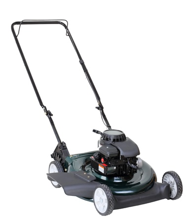 Power lawn mower isolated on a white background Stock Photo