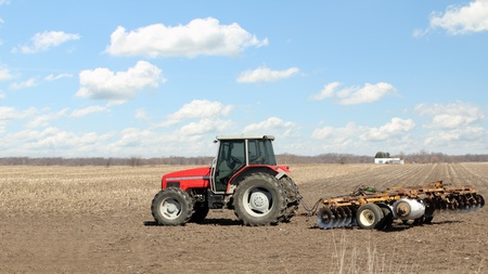 圃場鋤赤農場トラクター