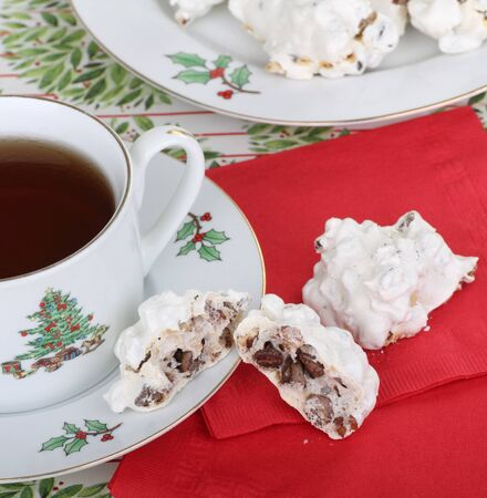 Cup of coffee with two Christmas cookies Stock Photo - 16522176