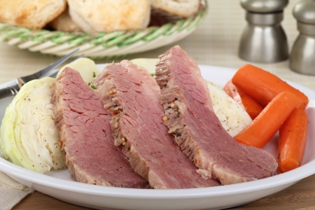 Sliced corned beef with cabbage and carrots Stock Photo - 17374616