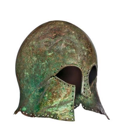 Grecian warriors original antique helmet found  photo