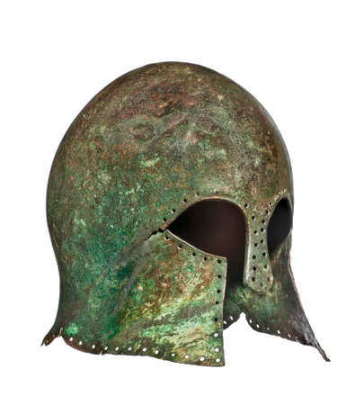 grecian: Early 580BC Grecian warriors original antique helmet found