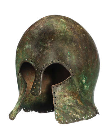 Early 580BC Grecian warriors original antique helmet found photo