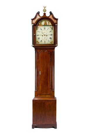 Scottish antique tall long case grandfather clock for halls 免版税图像 - 35942117