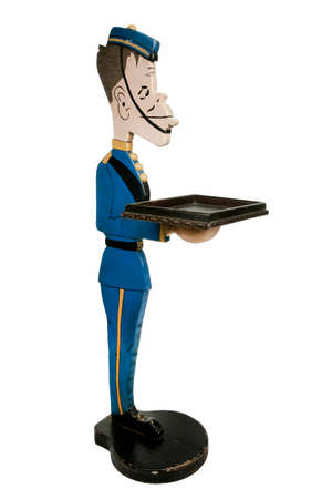 Waiter statue dressed as bell boy for dinner parties 3ft high. photo