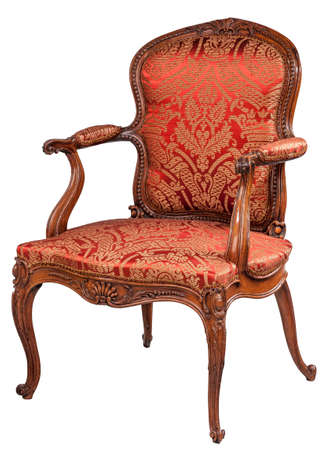 desirable: Chair with arms antique old vintage retro comfortable and stylish desirable with clip path