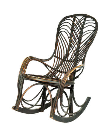antique chair: Rocking chair antique old in bamboo
