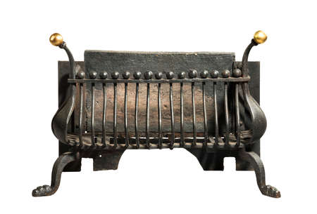 victorian fireplace: Antique fireplace iron grate, victorian for smaller fire places