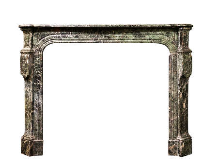 surround: Victorian fire surround in striking veined marble isolated