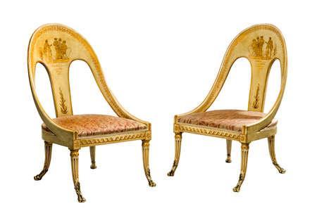 muebles antiguos: Antiguos presidentes egipcios antiguos viejas pintadas