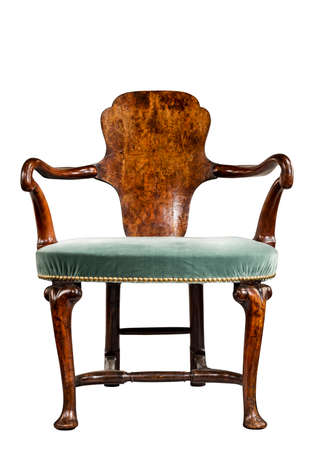 antique chair: Interesting old antique stylish chair isolated with clipping path