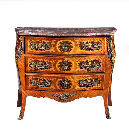 inlaid furniture old vintage antique chest of drawers known as commode wood  inlaid ormalu furniture