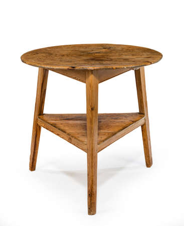 old furniture: three legged table known as cricket table old vintage country furniture