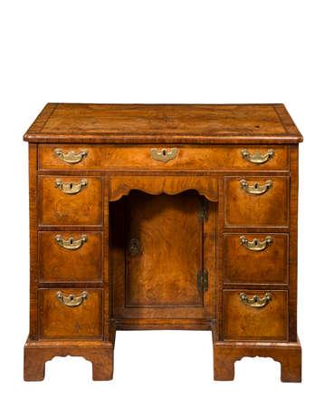 Ladies antique vintage wodden walnut writing desk