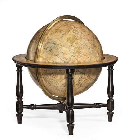 Old antique globe small for the desk or table
