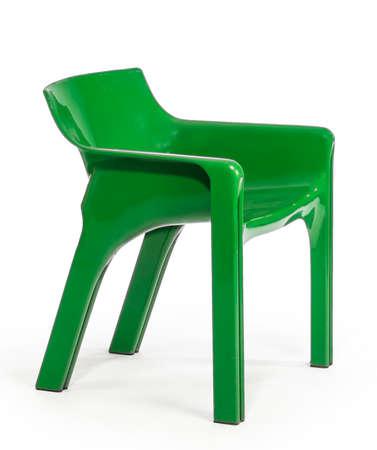 green plastic stackable outdoor garden patio arm chair