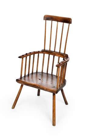 antique windsor comb back chair old made of beech and elm seat