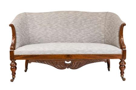 antique wooden carved sofa 免版税图像
