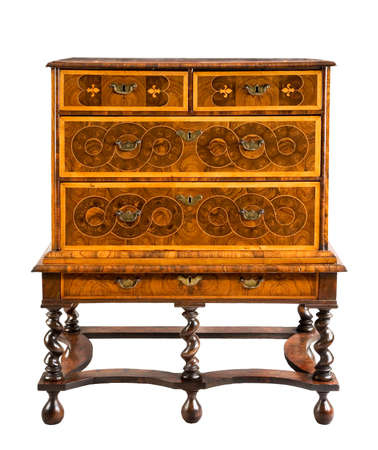 old antique European dresser or chest on stand 免版税图像 - 137272069