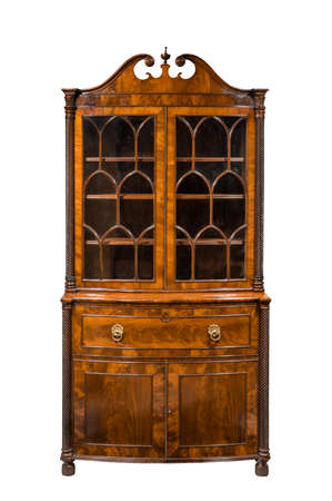 Vintager bookcase cabinet isolated on white