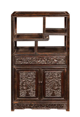 Chinese display cabinet storage chest 免版税图像