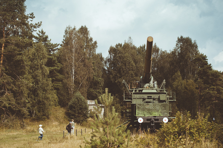 outpost: 305-mm installation TM-3-12 on the military-historical site of Fort Krasnaya Gorka Editorial