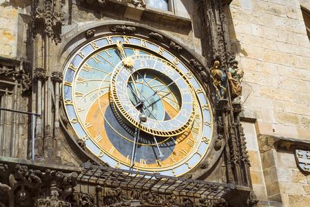 old town hall: PRAGUE, CZECH REPUBLIC - AUGUST 27, 2015: Prague Astronomical Clock Orloj in the old Town Square, The old town hall Staromestske namesti, Prague, Czech Republic