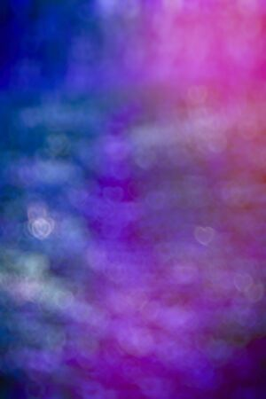 substrate: Abstract background out-of-focus bokeh with glowing hearts, a bright substrate is decoration for Valentines day