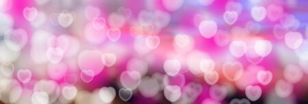 substrate: Valentines Day Abstract blurred background with bokeh of hearts. The substrate for holiday greeting text Stock Photo