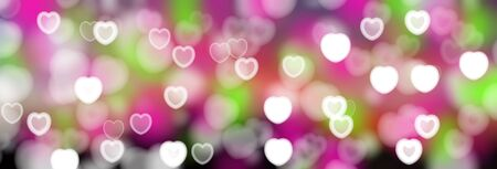 the substrate: Valentines Day Abstract blurred background with bokeh of hearts. The substrate for holiday greeting text Stock Photo
