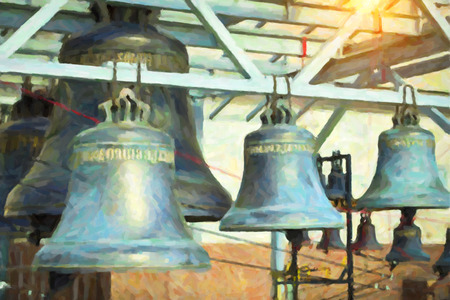 st  petersburg: Cast iron bells of St. Isaacs Cathedral in St. Petersburg