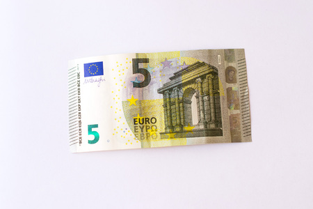 Euro Banknotes Are In Denominations Of 5 Euros Symbol Of European