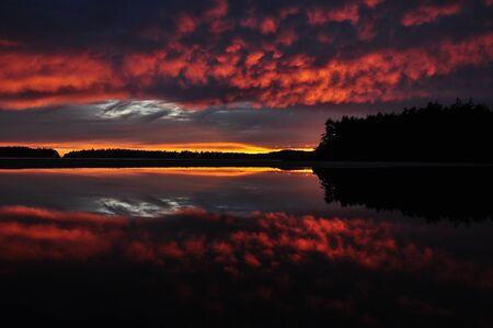Sunset Mirror in Tofino Canada