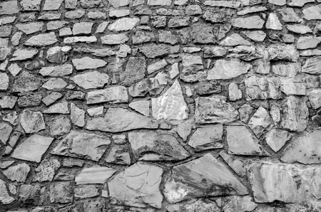 Black   White Cobble Stone Footpath