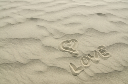 Love written in Sand photo