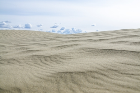 Sandy waves texture   blue sky Banco de Imagens