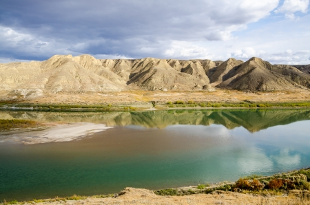 reflective: Reflective autumn river