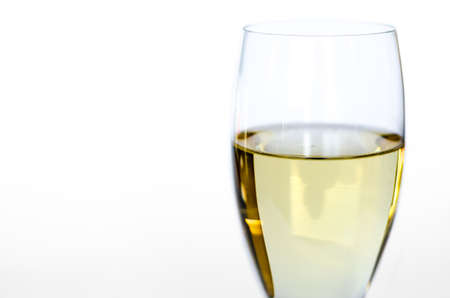 Isolated glass of white wine Banco de Imagens - 26393697