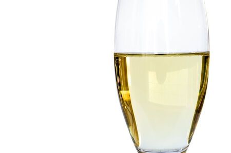 Isolated glass of white wine Banco de Imagens - 26393699